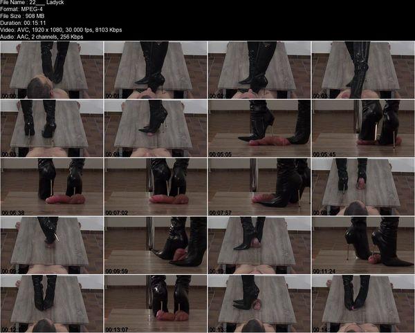 High Heels Goddess - Lady Latisha - Lady Latisha's Stiletto Boot Heels vs. Cock