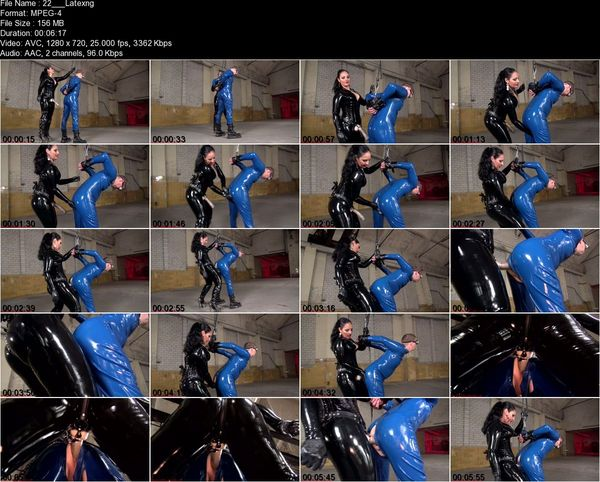 Mistress Ezada Sinn - Latex slave pegging