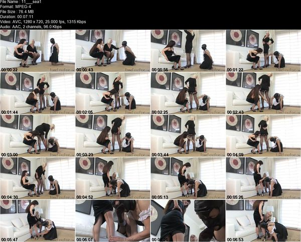 FemmeFataleFilms - Divine Mistress Heather, Lady Mia Harrington - Seams and Feet Part 1-2