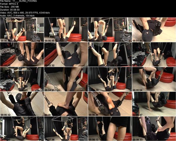MISTRESS GAIA - SLING FOOTGAGGING
