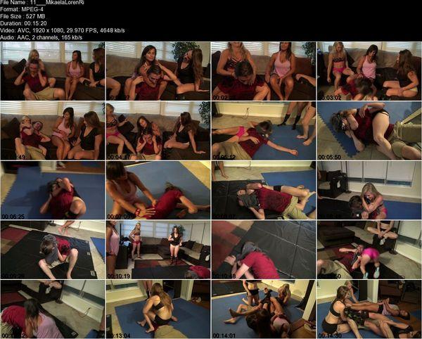 Reality Girls - Mikaela, Loren Blaine, Riot, Maria - Extreme Sleeper Team: Knockouts