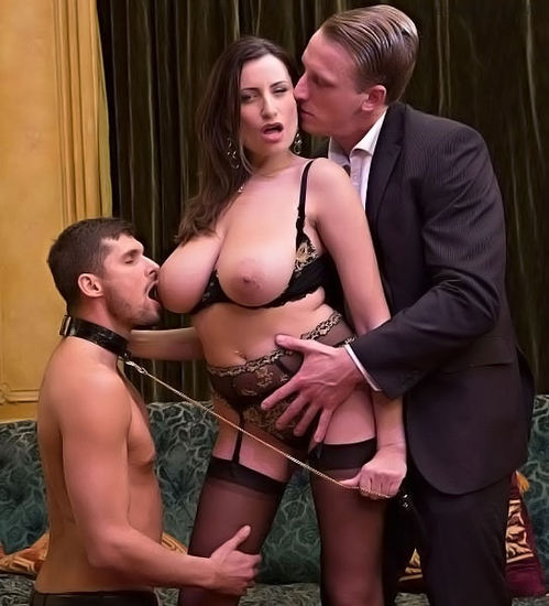 Sensual Jane – Sensual, the big tits milf gets fucked by 2 men – 10/19/16 – HD 720p