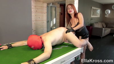 Ella Kross - Hot video - Lazy Slave Punished with My Huge Strap-On!