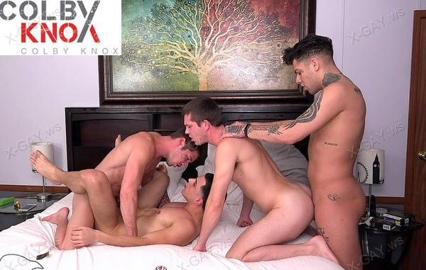 ColbyKnox: Double Date (Colby Chambers, Junior Fernandez, Mickey Knox, Mickey Taylor)