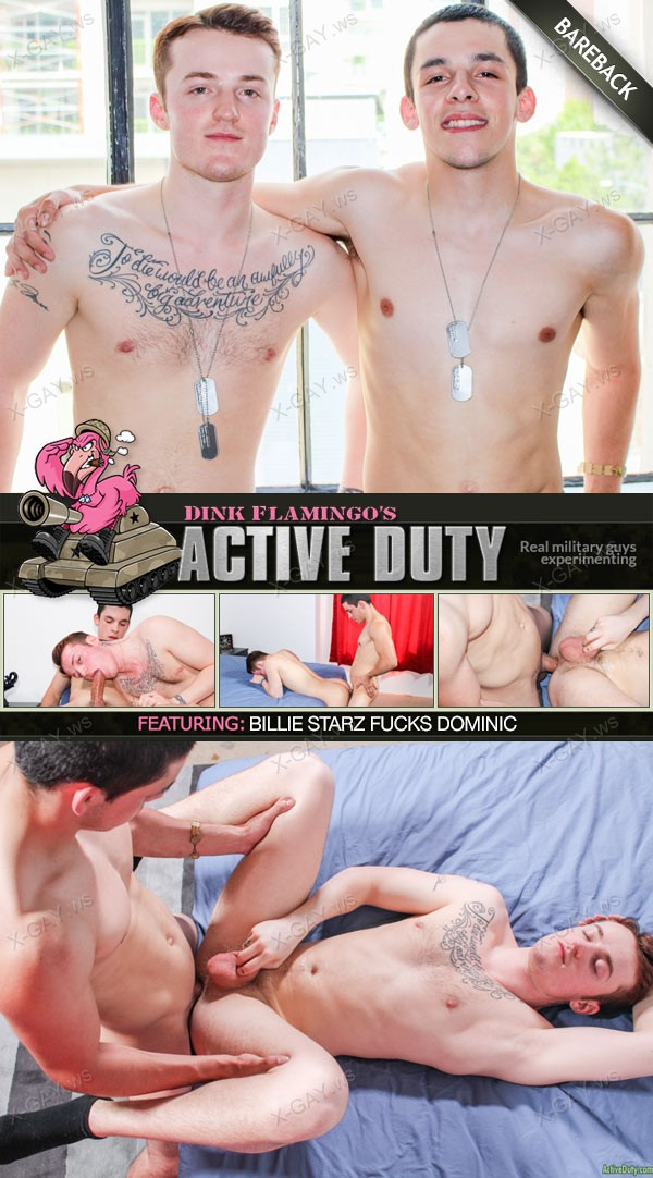 ActiveDuty: Dominic, Billie Starz (Bareback)