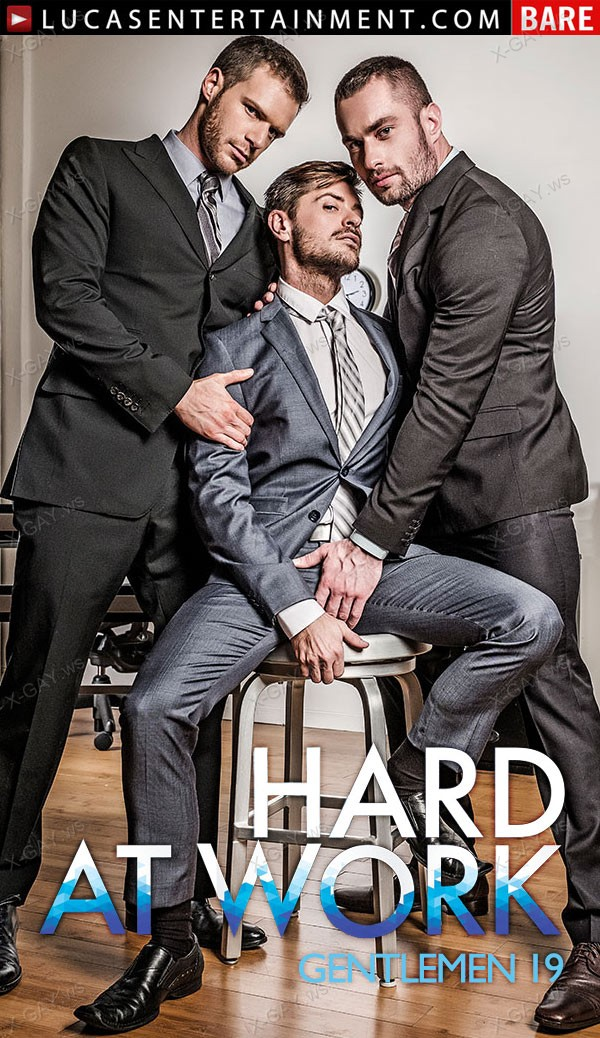 LucasEntertainment: Stas Landon And Jack Andy Double Penetrate Brian Bonds After Hours (Bareback)