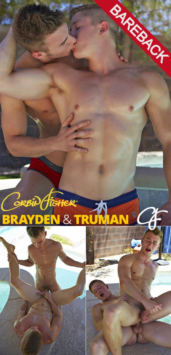 CorbinFisher: Brayden and Truman's Pool Fuck (Bareback)