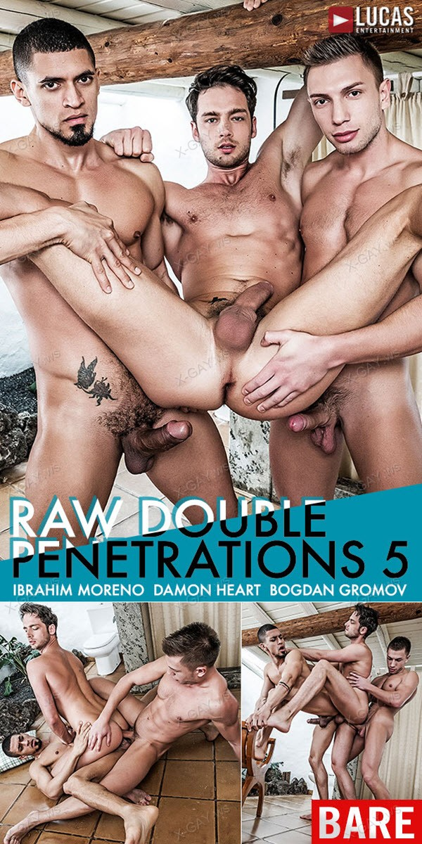 LucasEntertainment: Damon Heart Gets Double-Fucked By Ibrahim Moreno And Bogdan Gromov (Bareback)