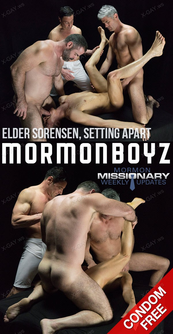 MormonBoyz: Elder Sorensen, Setting Apart (with President Oaks, Nelson and Bishop Angus) (Bareback)