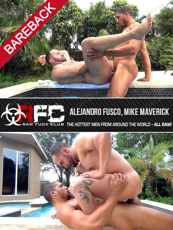 RawFuckClub: Hot Tub Breeding (Alejandro Fusco, Mike Maverick) (Bareback)