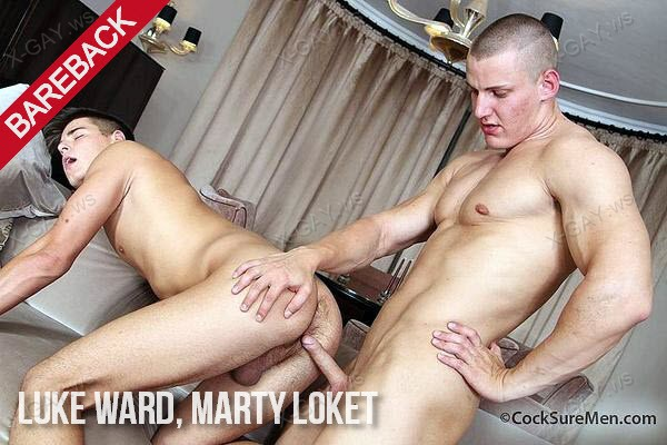 CockSureMen: Luke Ward Barebacks Marty Loket