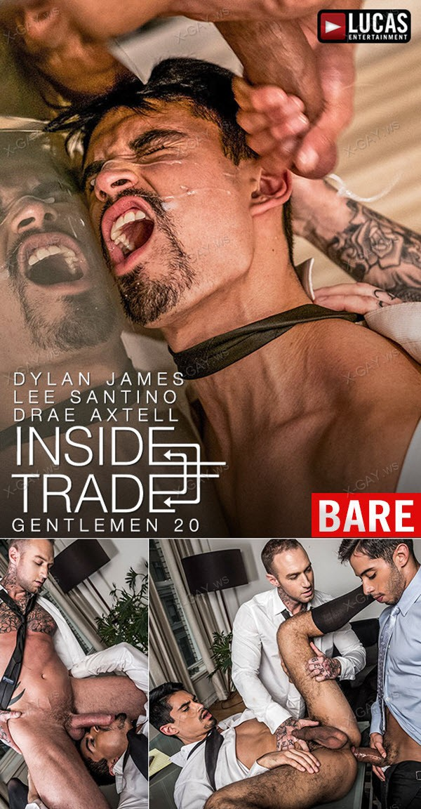 LucasEntertainment: Dylan James And Drae Axtell Double Team Lee Santino (Bareback)
