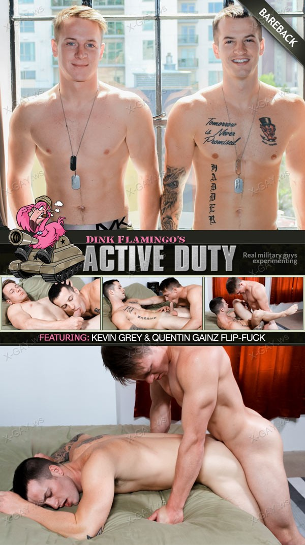 ActiveDuty: Kevin Grey, Quentin Gainz (Bareback)