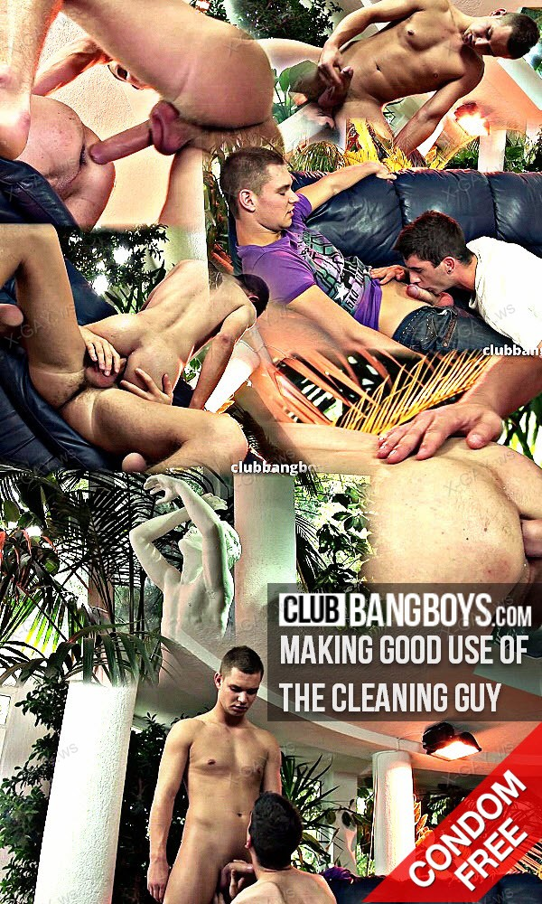 ClubBangBoys: Making Good Use Of The Cleaning Guy