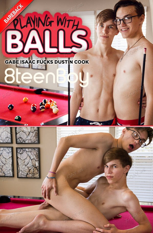 8TeenBoy: Gabe Isaac, Dustin Cook (Playing With Balls) (Flip Fuck Bareback)