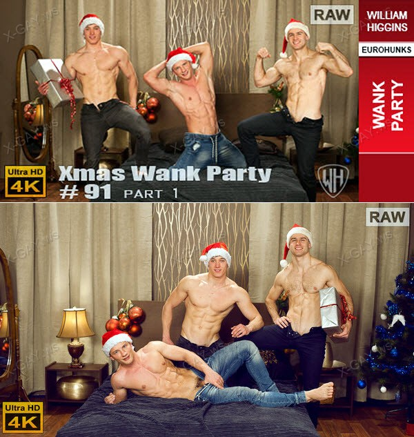 WilliamHiggins: Xmas Wank Party #91, Part 1 (RAW, WANK PARTY)