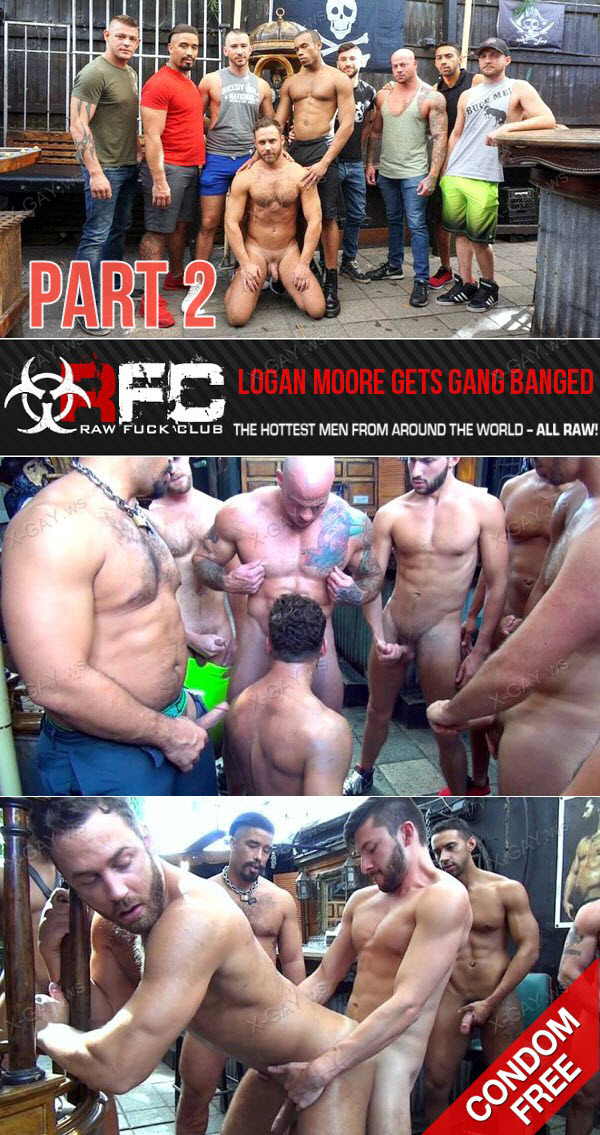 RawFuckClub: Logan Moore Gets Gang Banged, Part 2