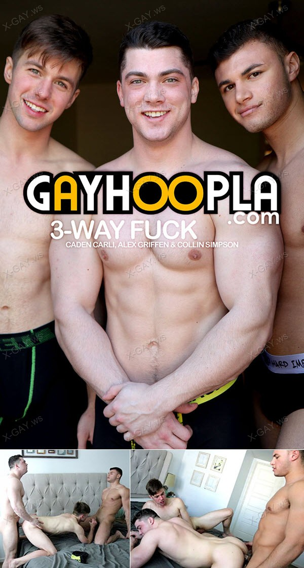 GayHoopla: Caden Carli, Alex Griffen, Collin Simpson (HOT Gay 3-Way FUCK)