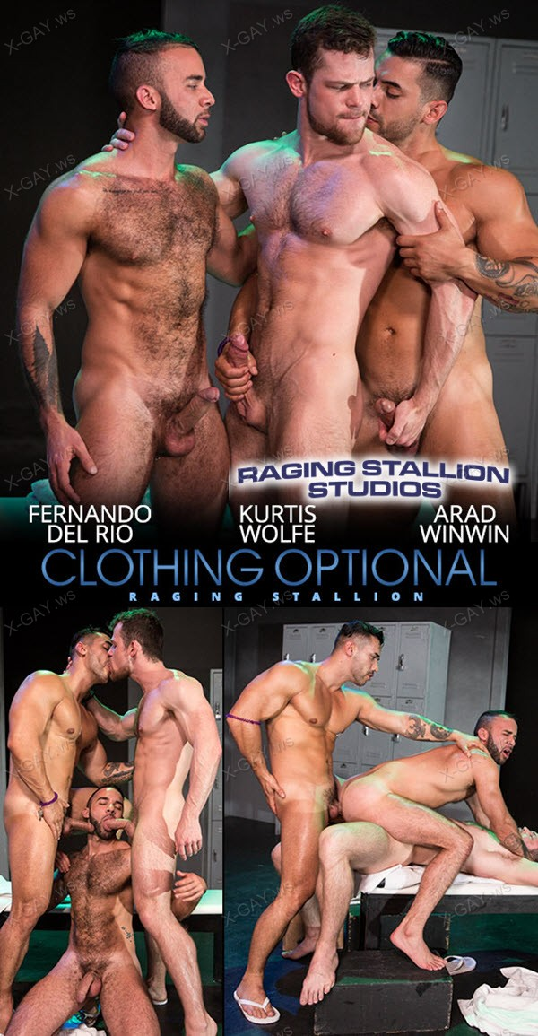 RagingStallion: Fernando Del Rio, Arad Winwin, Kurtis Wolfe (Clothing Optional)