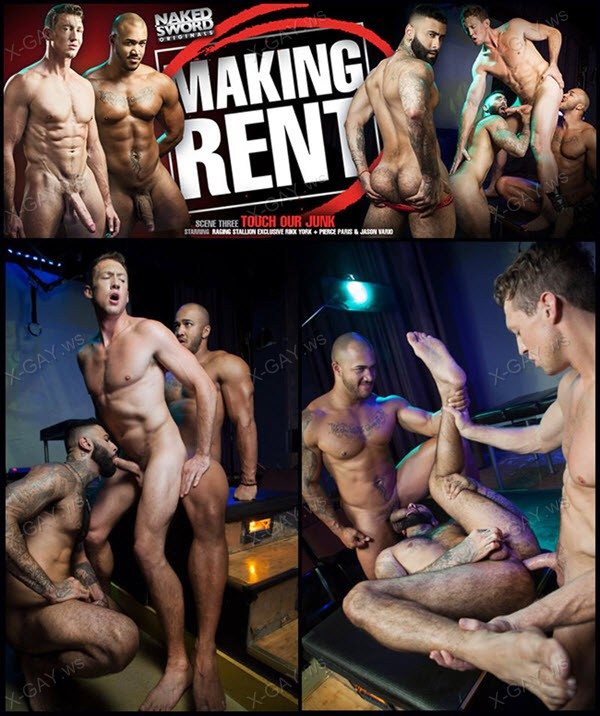 NakedSword: Jason Vario, Pierce Paris, Rikk York: Making Rent, Scene 3: Touch Our Junk