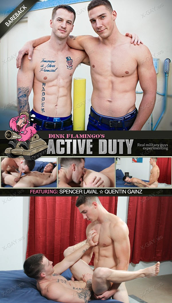 ActiveDuty: Spencer Laval, Quentin Gainz (Bareback)
