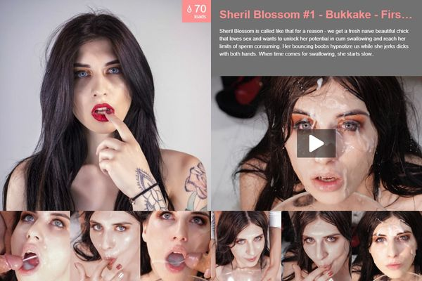 First Bukkake [PremiumBukkake] Sheril Blossom (3.48 GB)
