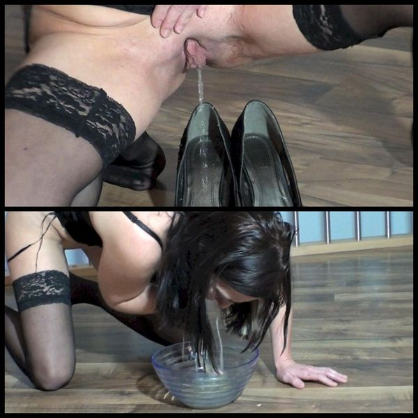 Spritigefee – Pissing in highheel, drinking it and puking it back out
