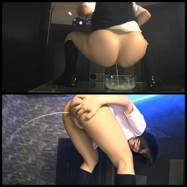 (05.08.2013) School Girl Enema Dance 1-2