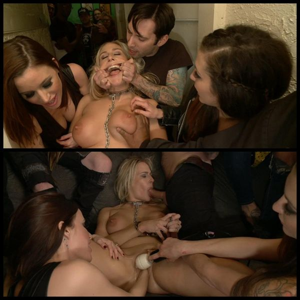 (21.02.2014) Blond bitch fucked silly at a crazy house party. Squirting, DP, Fisting