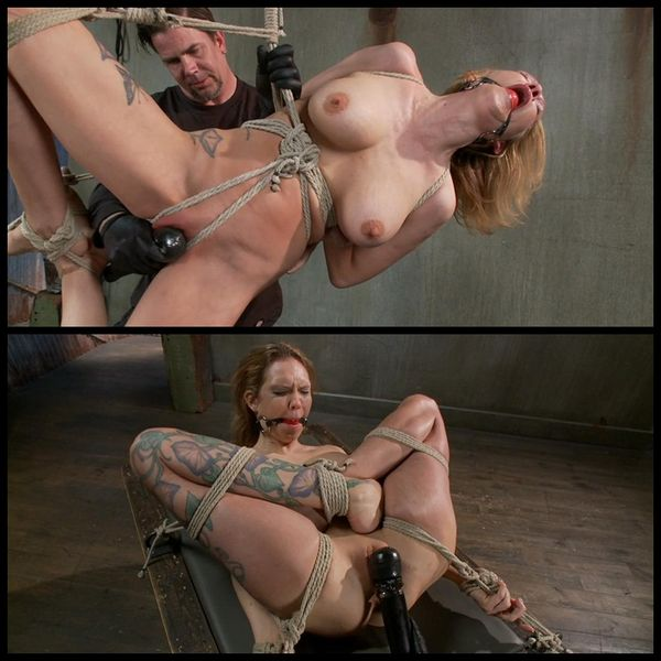 (26.02.2014) Hot blonde suffers through an extreme beating while in tight bondage