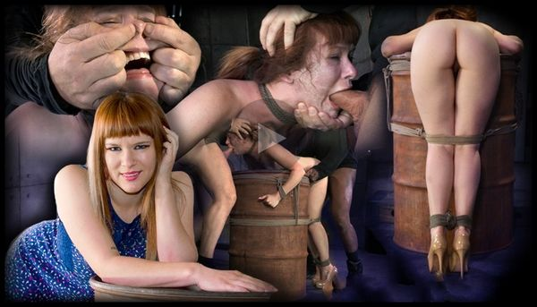 (04.04.2014) SB – Redheaded sweetheart Claire Robbins bend over a barrel, tagteamed by dick, totally destroyed!