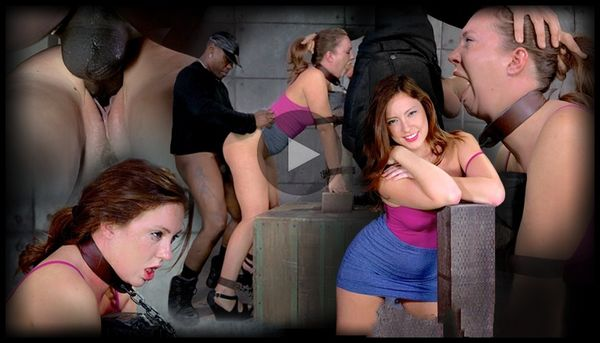(11.04.2014) SB – Maddy O'Reilly tagteamed by two dicks, brutal bondage, epic deepthroat, totally destroyed
