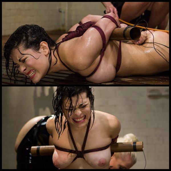 (15.04.2014) Hot Lezdom shower scene with exciting electrosex and strap-on fucking