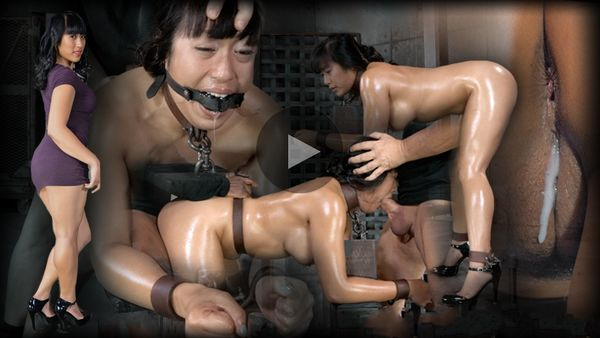 (09.05.2014) Hot Filipina Mia Li is Bound, Oiled, Brutally Face Fucked and drilled with cock! Made to Cum and Cum