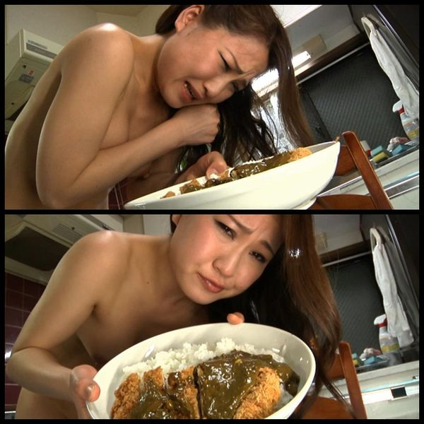 Forced to eat her own shit: cooking shit 04