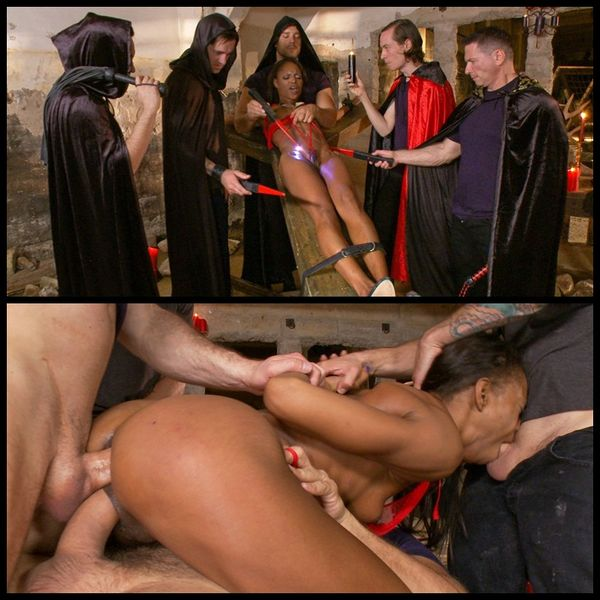 (09.07.2014) Marie Luv in ritualistic gangbang brutally taking her to a new level
