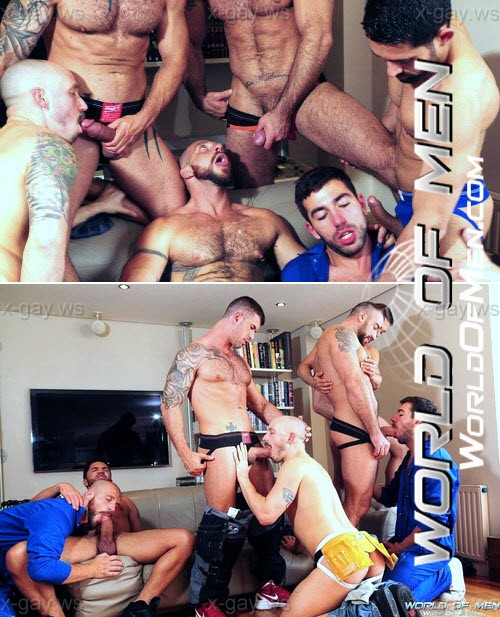 WorldOfMen – US vs Europe 7 Man Orgy