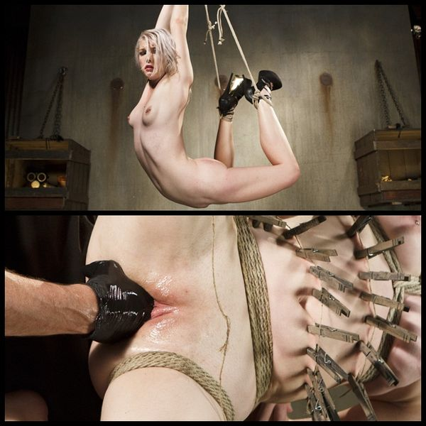 (24.09.2014) Ella Nova is tormented in extreme bondage