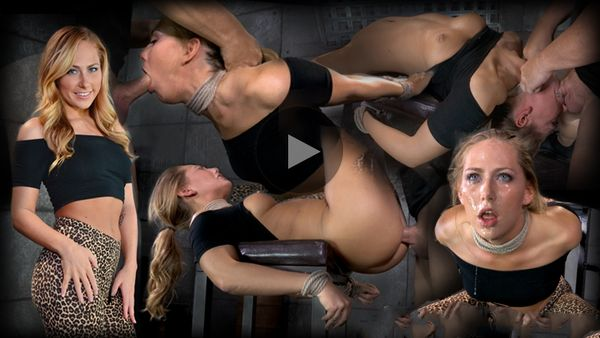 (29.09.2014) Blonde girl next door Carter Cruise tied up and ragdoll fucked from both ends messy epic deepthroat