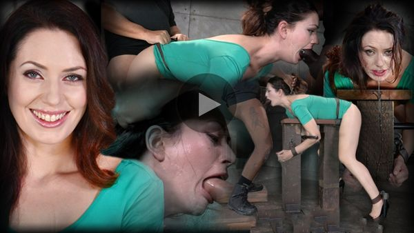 (08.10.2014) Sarah Shevon restrained and used hard from both ends by hard cock, drooling brutal deepthroat