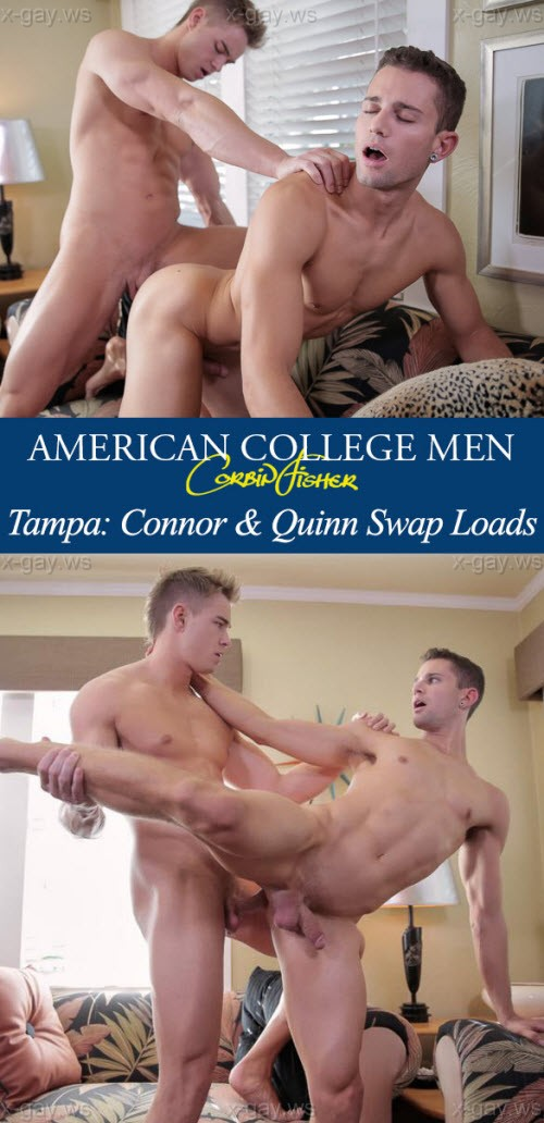 CorbinFisher – Tampa: Connor & Quinn Swap Loads, Bareback