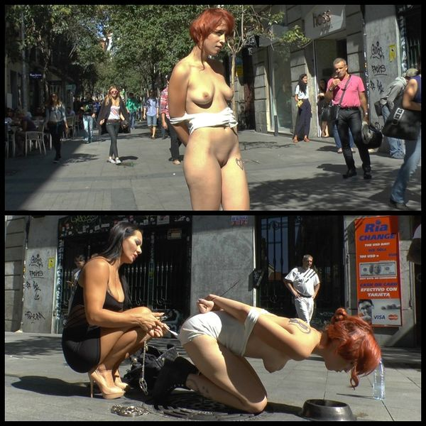 (21.11.2014) Spanish redheaded floozy beautifully humiliated in Madrid