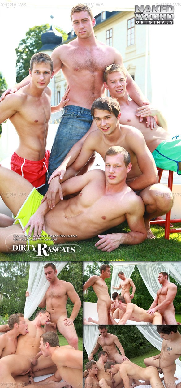 NakedSword – Connor Maguire, Rick Lautner, Marcel Gassion, Brian Jovovich & Tim Campbell