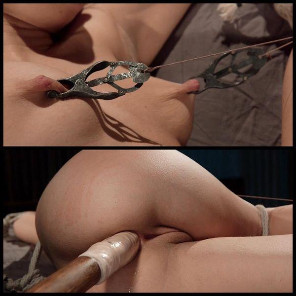 (13.01.2015) ดอกทองร้อน Petite ในการทาส Brutal กับการทำลายล้างที่รุนแรง - BDSM, Bondage