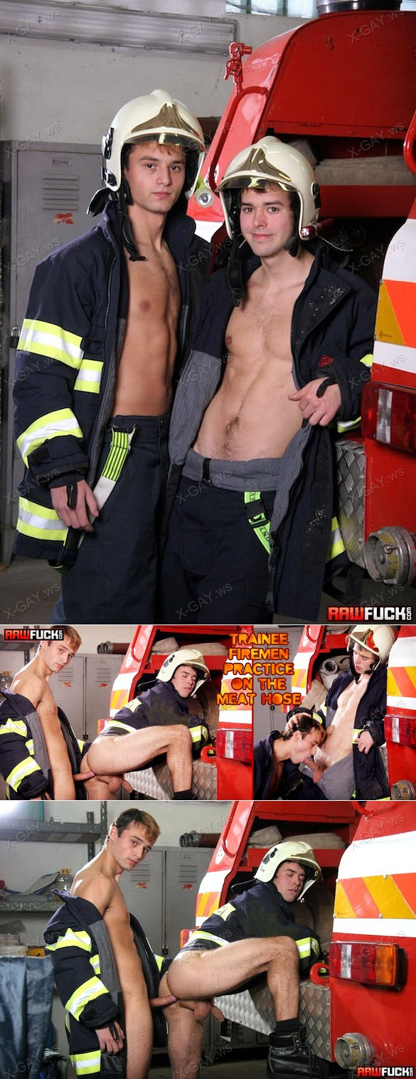 RawFuck – Trainee Firemen Practice On The Meat Hose