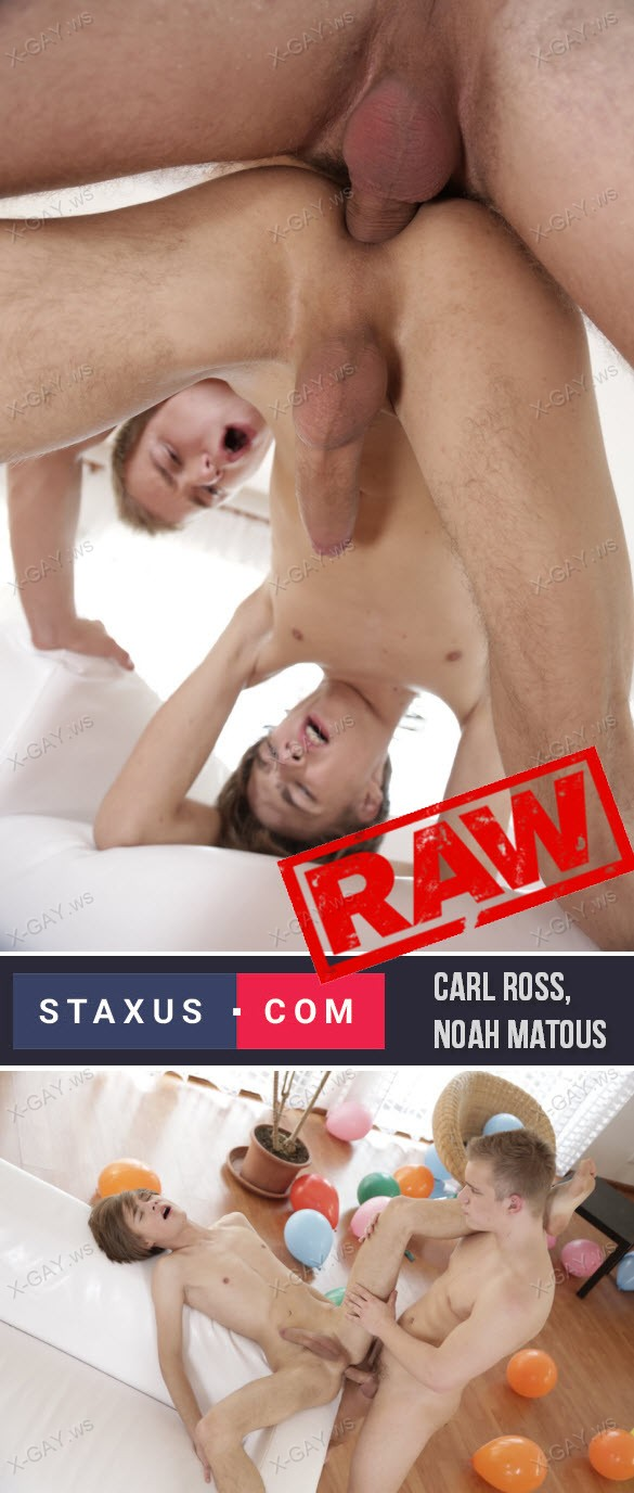 Staxus: Noah Matous's Ass Takes On A Top-Notch Stretch & Creaming! (Bareback)