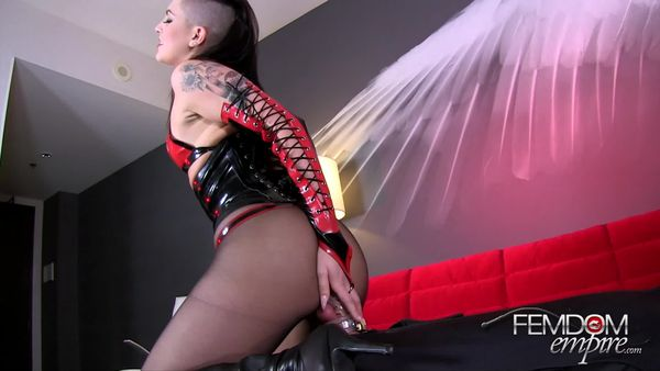 FEMDOM EMPIRE - Mistress Rachael - Chastity Gimp Dick