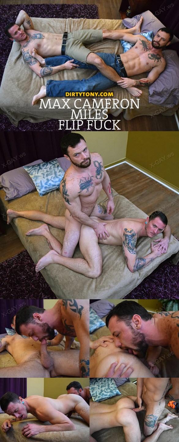 DirtyTony: Max Cameron & Miles Flip Fuck