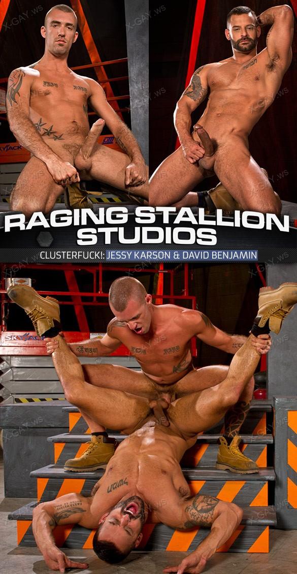 RagingStallion: Clusterfuck! (David Benjamin & Jessy Karson)