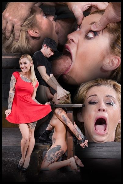 (09.07.2015) Tattooed blonde Kleio Valentien bound on sybian with drooling destroyed deepthroat